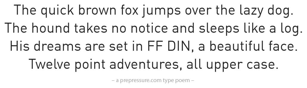 FF DIN typeface