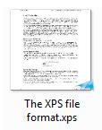 The XPS file thumbnail