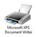 Windows 7 XPS printer icon